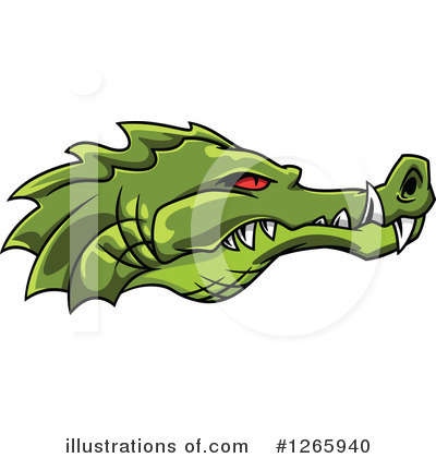 Crocodile Clipart #1265940 by Vector Tradition SM