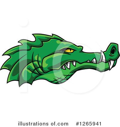 Crocodile Clipart #1265941 by Vector Tradition SM