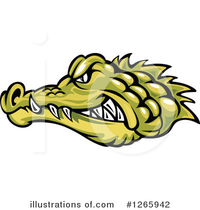 Crocodile Clipart #1265942 by Vector Tradition SM