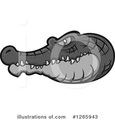 Crocodile Clipart #1265943 by Vector Tradition SM