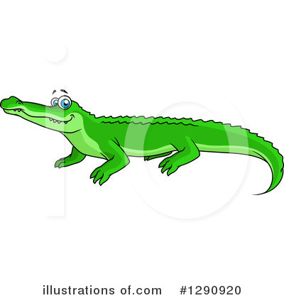 Crocodile Clipart #1290920 by Vector Tradition SM