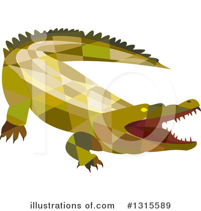 Alligator Clipart #1315589 by patrimonio