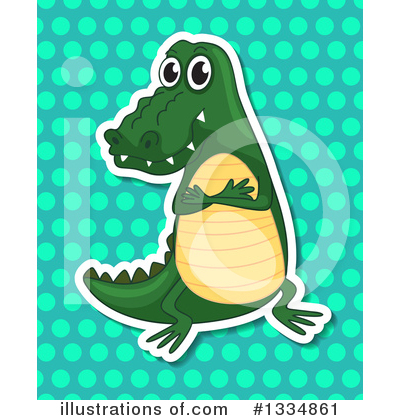 Crocodile Clipart #1334861 by Graphics RF
