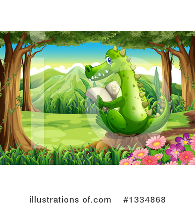 Crocodile Clipart #1334868 by Graphics RF