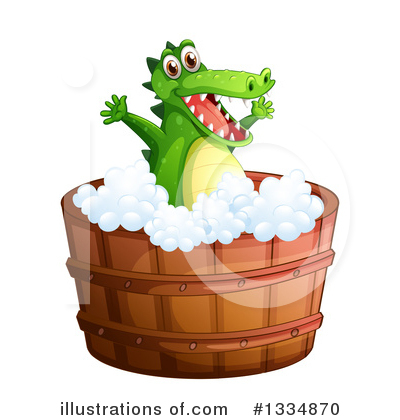Crocodile Clipart #1334870 by Graphics RF
