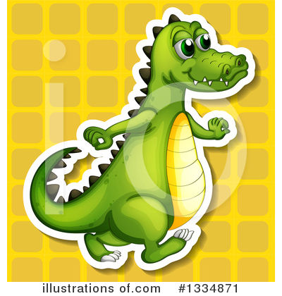 Crocodile Clipart #1334871 by Graphics RF