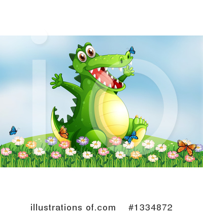 Crocodile Clipart #1334872 by Graphics RF