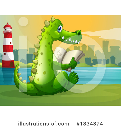 Crocodile Clipart #1334874 by Graphics RF