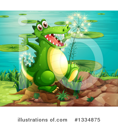 Crocodile Clipart #1334875 by Graphics RF