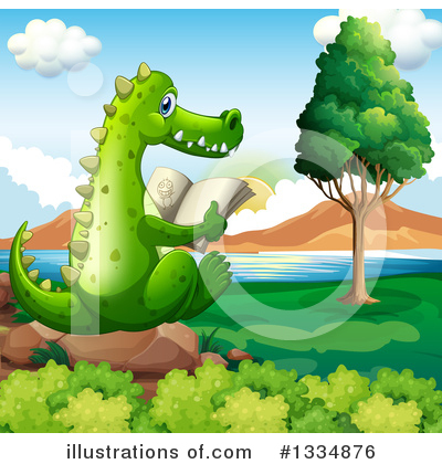 Crocodile Clipart #1334876 by Graphics RF