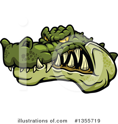 Alligator Clipart #1355719 by Vector Tradition SM
