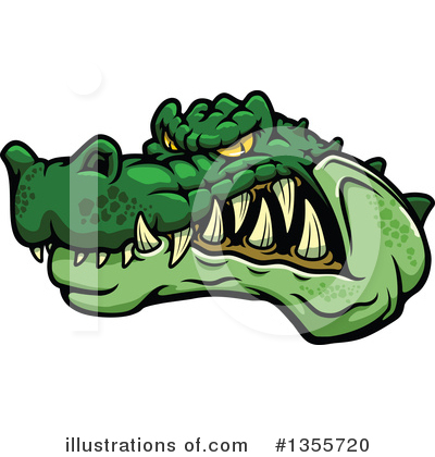 Crocodile Clipart #1355720 by Vector Tradition SM