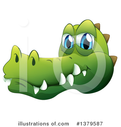 Crocodile Clipart #1379587 by Graphics RF