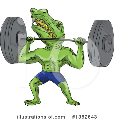Alligator Clipart #1382643 by patrimonio