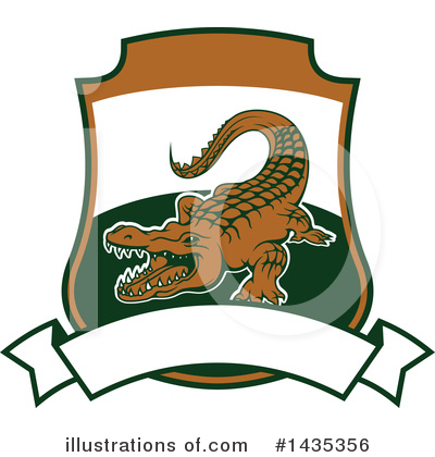 Crocodile Clipart #1435356 by Vector Tradition SM