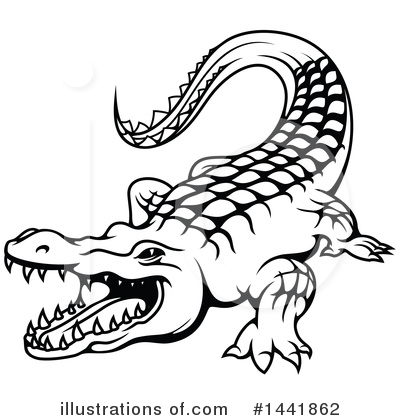 Royalty-Free (RF) Crocodile Clipart Illustration by Vector Tradition SM - Stock Sample #1441862