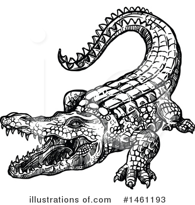 Royalty-Free (RF) Crocodile Clipart Illustration by Vector Tradition SM - Stock Sample #1461193