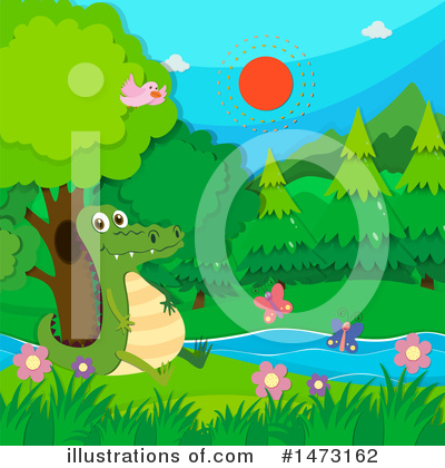 Crocodile Clipart #1473162 by Graphics RF