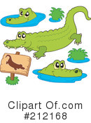 Crocodile Clipart #212168 by visekart