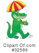 Royalty-Free (RF) Crocodile Clipart Illustration #32589