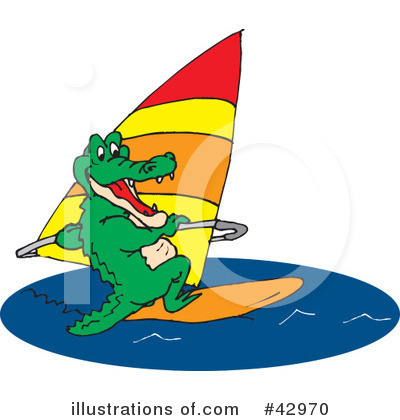 Windsurfing Clipart #42970 by Dennis Holmes Designs