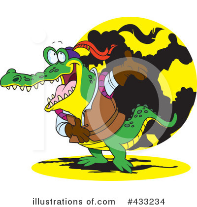 Crocodile Clipart #433234 by toonaday