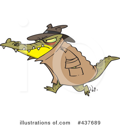 Royalty-Free (RF) Crocodile Clipart Illustration by toonaday - Stock Sample #437689