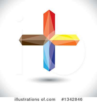 Royalty-Free (RF) Cross Clipart Illustration by ColorMagic - Stock Sample #1342846