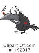 Royalty-Free (RF) Crow Clipart Illustration #1192317