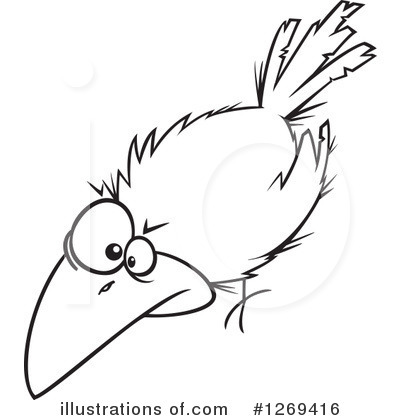 Crow Clipart #1269416 by toonaday