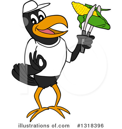 Crow Clipart #1318396 by LaffToon