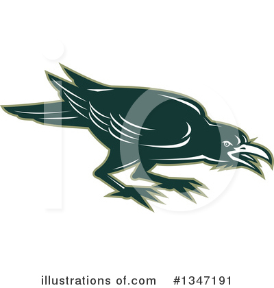 Crow Clipart #1347191 by patrimonio