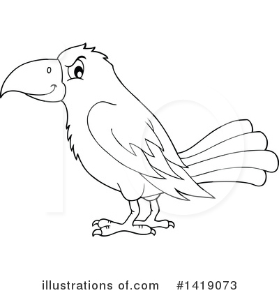 Crow Clipart #1419073 by visekart