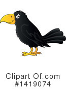 Royalty-Free (RF) Crow Clipart Illustration #1419074