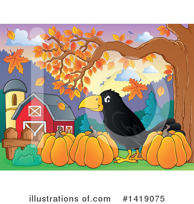 Crow Clipart #1419075 by visekart