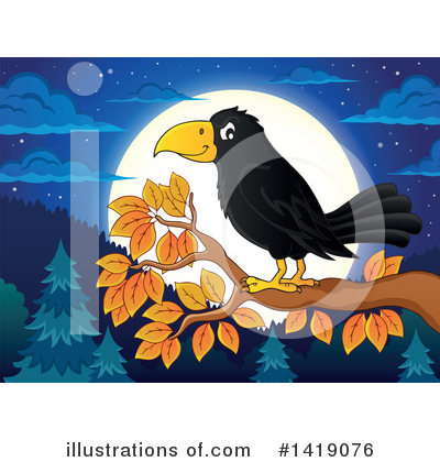 Crow Clipart #1419076 by visekart