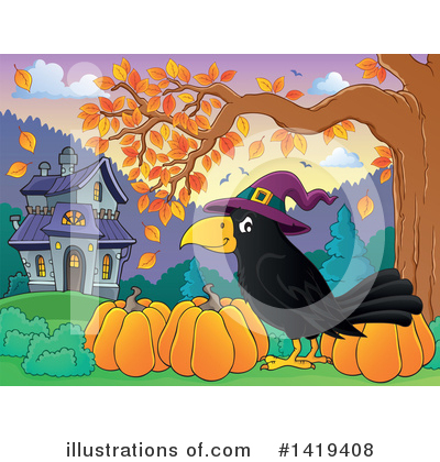 Crow Clipart #1419408 by visekart