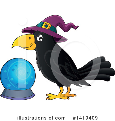 Crow Clipart #1419409 by visekart