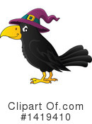 Royalty-Free (RF) Crow Clipart Illustration #1419410