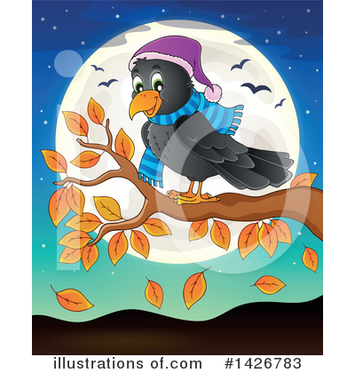 Crow Clipart #1426783 by visekart
