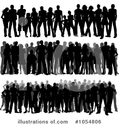 Royalty Free Images on Crowd Clipart  1054806 By Kj Pargeter   Royalty Free  Rf  Stock