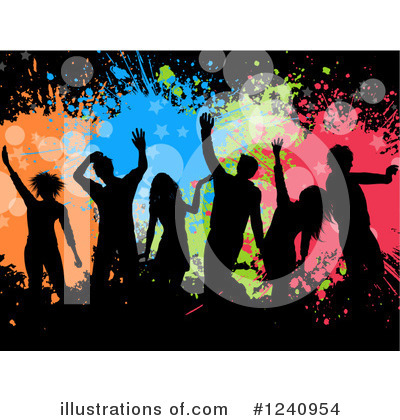 Party Clipart #1240954 by KJ Pargeter