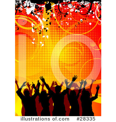 Royalty-Free (RF) Crowd Clipart Illustration by KJ Pargeter - Stock Sample #28335