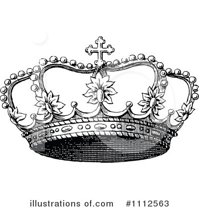 Crown Clip Art Black and White