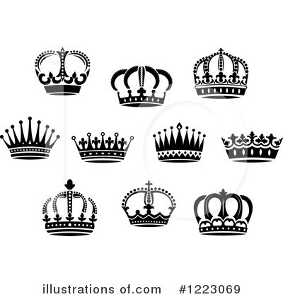 Royalty-Free (RF) Crown Clipart Illustration by Vector Tradition SM - Stock Sample #1223069