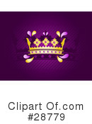 Royalty-Free (RF) crown Clipart Illustration #28779