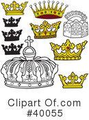 Royalty-Free (RF) Crown Clipart Illustration #40055