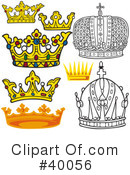 Royalty-Free (RF) Crown Clipart Illustration #40056