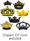 Royalty-Free (RF) Crown Clipart Illustration #40058