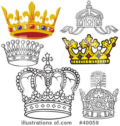 Royalty-Free (RF) Crown Clipart Illustration by dero - Stock Sample #40059